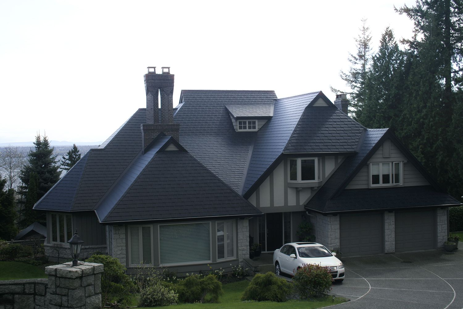 black metal slate roof north vancouver