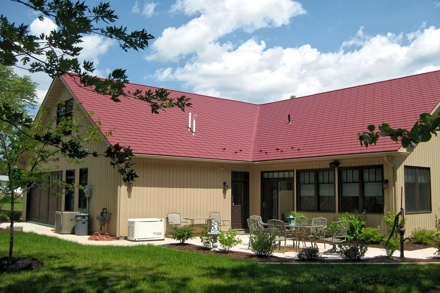 red metal slate roof hip valley