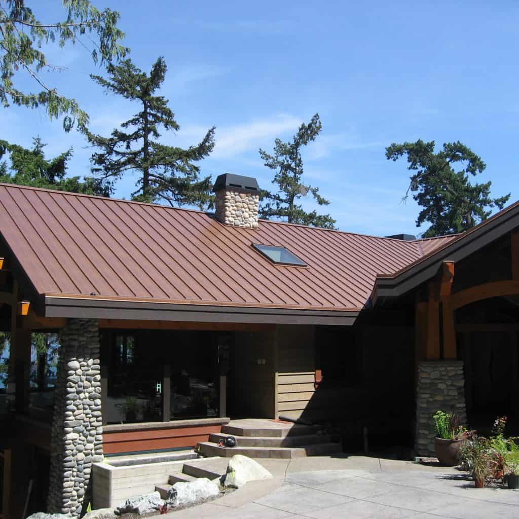 Vancouver Island BC Canada Standing Seam Roof