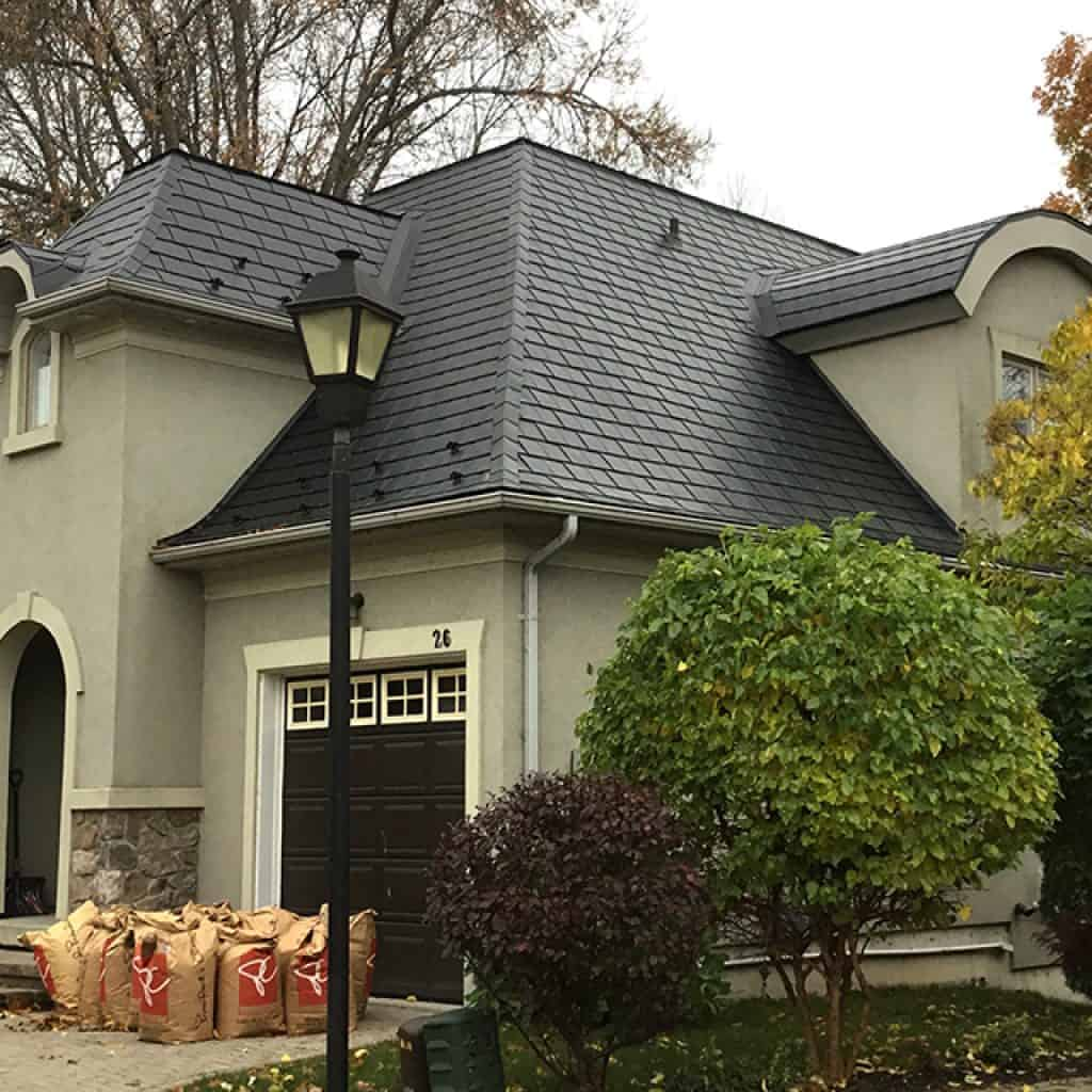 Mansard Roof Metal Shingles
